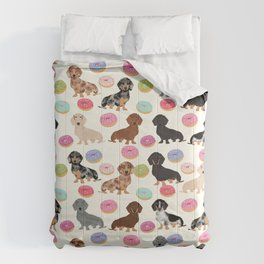 Dachshund weener dog donuts cutest doxie gifts for small dog owners Comforters