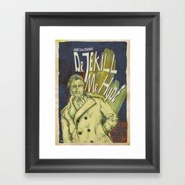 Dr. Jekyll & MrHyde Framed Art Print