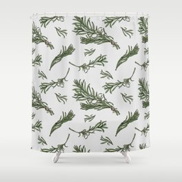 Rosemary rustic pattern Shower Curtain