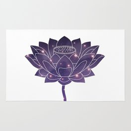 Universe in Lotus Holly Flower Rug