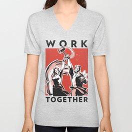 Work Together Unisex V-Neck