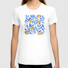 Tropical Lemons / Blue and Yellow Refreshing Lemon Print / Abstract Lemon Vibes / Summer Lemons T-shirt