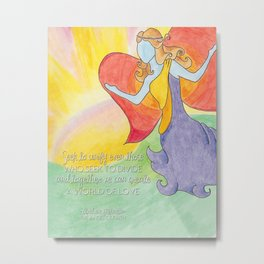 Mikaela A World of Love Metal Print