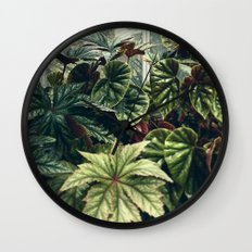 Beautiful Begonias Wall Clock