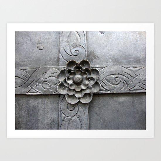 Metal Door Basilica Mariazell Art Print