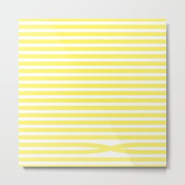 Stripes - Baby Yellow Metal Print