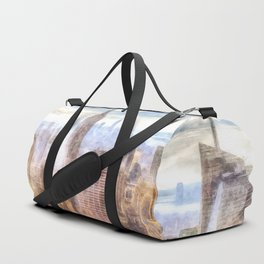New York Manhattan Skyline Art Duffle Bag