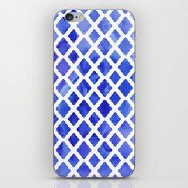 Watercolor Diamonds in Cobalt Blue iPhone Skin