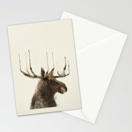 the moose Stationery Cards