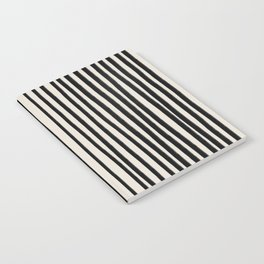Black Vertical Lines Notebook