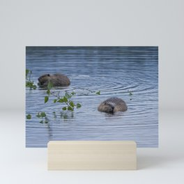 Beavers at Breakfast Mini Art Print