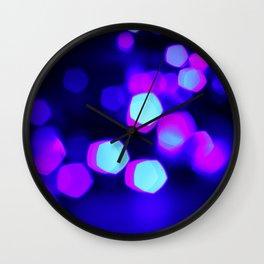 Pentagonal Bokeh Lights Wall Clock