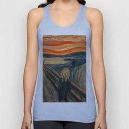 The Scream by Edvard Munch Unisex Tank Top