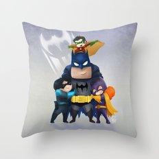 Bat-Family Throw Pillow