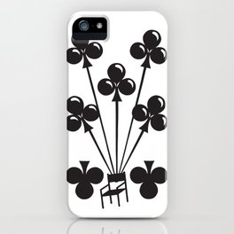 Curator Deck: The 7 of Clubs iPhone Case