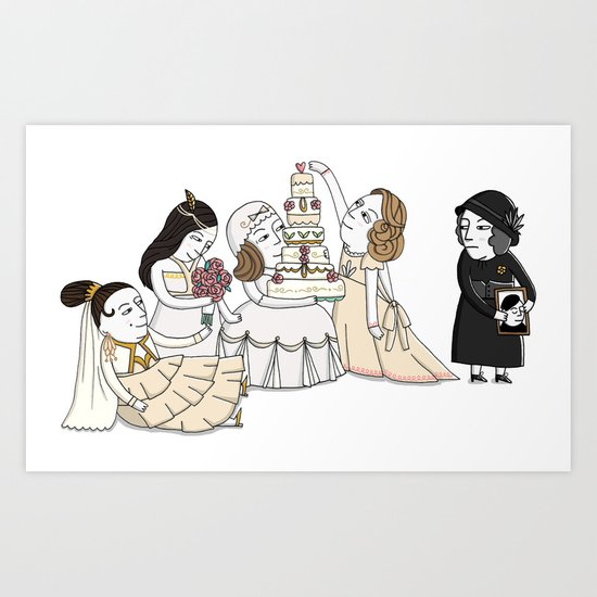 Four Weddings and a Funeral Art Print