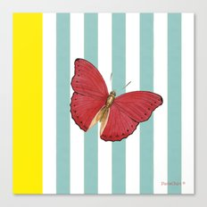 Coral butterfly Canvas Print