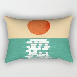 Sun over the sea Rectangular Pillow