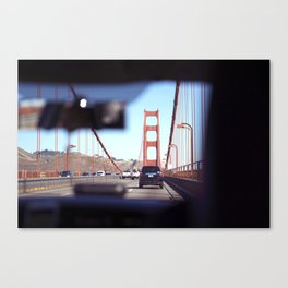 From the Backseat, Driving Across the Golden Gate Canvas Print