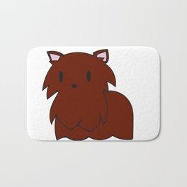 The Red Pomeranian Bath Mat