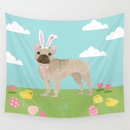 French Bulldog easter spring dog breed gifts pure breed frenchies portrait Wall Tapestry