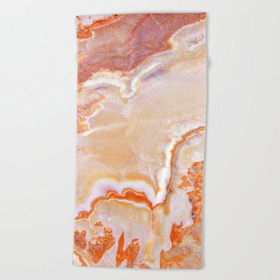 Peach Onyx Marble Beach Towel