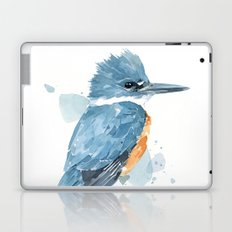 Belted Kingfisher watercolor Laptop & iPad Skin