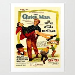 Vintage poster - The Quiet Man Art Print