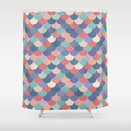 Mermaid Quilt Shower Curtain