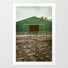 Farm Building Art Print