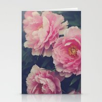 peonies Stationery Cards featuring Peonies  by Kameron Elisabeth