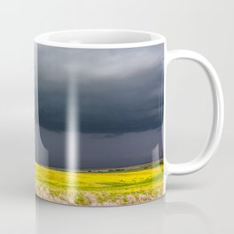 Simply Spring - Thunderstorm Over Yellow Fields in Oklahoma Coffee Mug