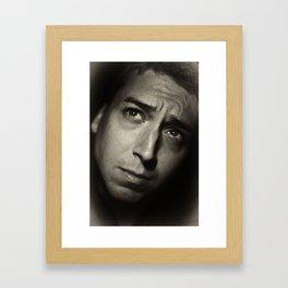 Self-portrait, early morning Framed Art Print