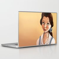 belle Laptop & iPad Skins featuring Belle by Sam Pea