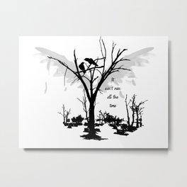 Crows A190 Metal Print