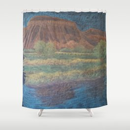 Mt. Garfield and Reflection Shower Curtain