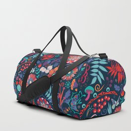 Ripe autumn – cyan and red Duffle Bag