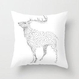 Deer dots Throw Pillow
