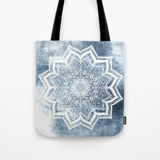BLUEISH SEA FLOWER MANDALA Tote Bag
