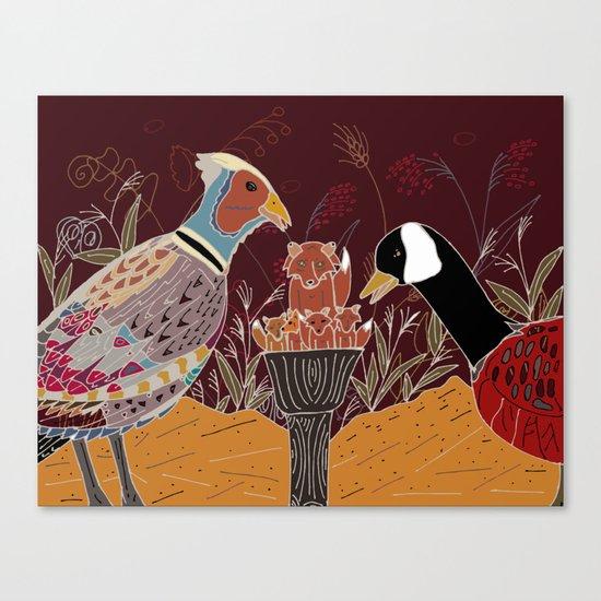 a peculiar role reversal Canvas Print