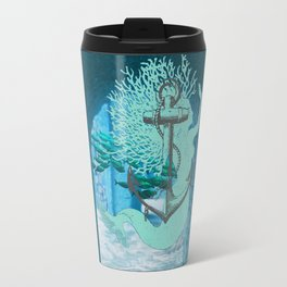 The Mermaid, The Anchor, And The School Of Fish ExploreTheRuins Travel Mug