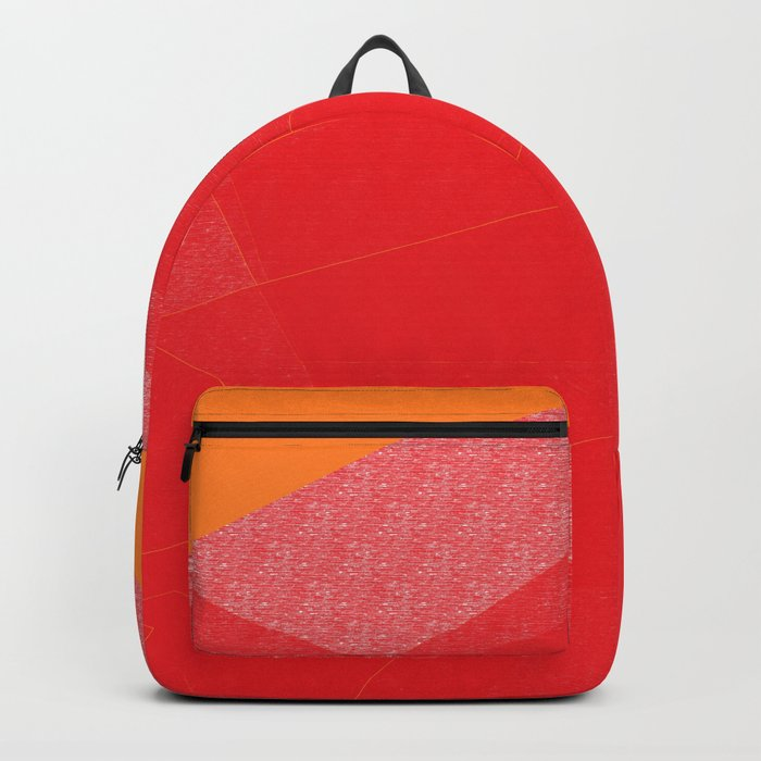 Colorful Red Abstract Mountain Backpack
