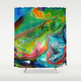 Spring abstraction Shower Curtain