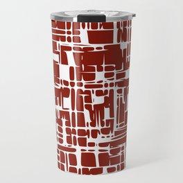 Crimson red abstract Travel Mug