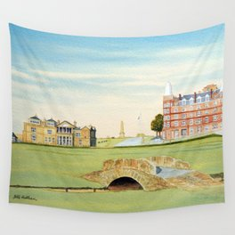 St Andrews Golf Course 18th Hole Wall Tapestry