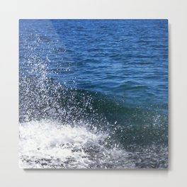 Seafoam and splashes Metal Print