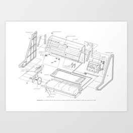 Korg MS-20 - exploded diagram Art Print