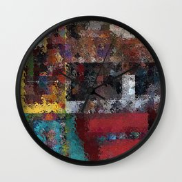 Abstract Key West Wall Clock