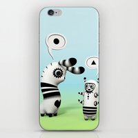 lama iPhone & iPod Skins featuring Lally Lama by Teodoru Badiu
