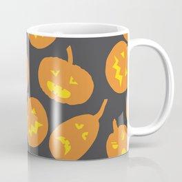 Gray and Orange Jack-O-Lantern Coffee Mug